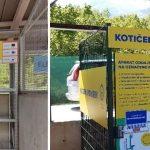 Kotiček za oddajo še delujočih aparatov na zbirnem centru v Bohinjski Bistrici in na zbirnem centru v Kranjski Gori