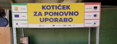 Kotiček za oddajo še delujočih aparatov v ZC pod Dolgo Poljano